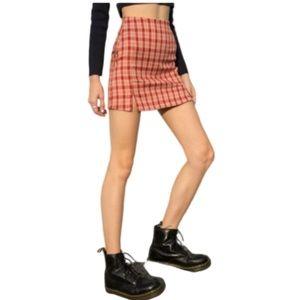 John Galt Brandy Melville   Cara Plaid Mini Skirt